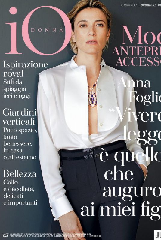 ANNA FOGLIETTE in Io Donna Del Corriere Della Sera, August 2020