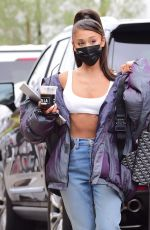 ARIANA GRANDE Arrives at a Recording Studio in Los Angeles 08/06/2020