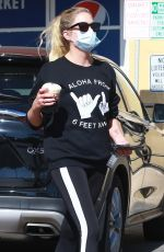 ASHLEY BENSON at a Starbucks in Hollywood 08/05/2020