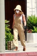 ASHLEY TISDALE Wearing a Mask Out in Los Angeles 07/31/2020
