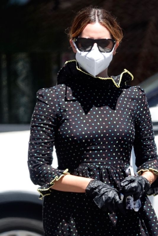 ASHLEY TISDALE Wearing Mask, Gloves and Eyewear Out in Los Angeles 08/11/2020