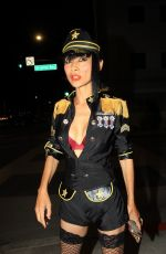 BAI LING in a Custom Uniform Night Out in Beverly Hills 08/05/2020