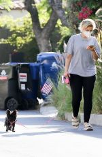 BEBE REXHA Out with Her Dog in Hollywood 08/06/2020