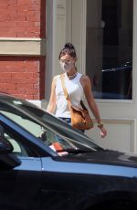 BELLA HADID Leaves Her Apartment in New York 08/27/2020