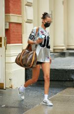 BELLA HADID Out in New York 08/29/2020