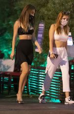 BELLA THORNE and FRANCESCA FARAGO Night Out in Los Angeles 08/26/2020
