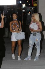 BLAC CHYNA and TOOCHI KASH Night Out in Hollywood 08/12/2020