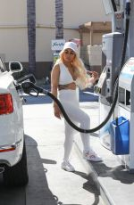 BLAC CHYNA at a Gas Station in Calabasas 08/09/2020