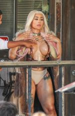 BLAC CHYNA on the Set of Her New Music Video in Palm Desert 08/13/2020