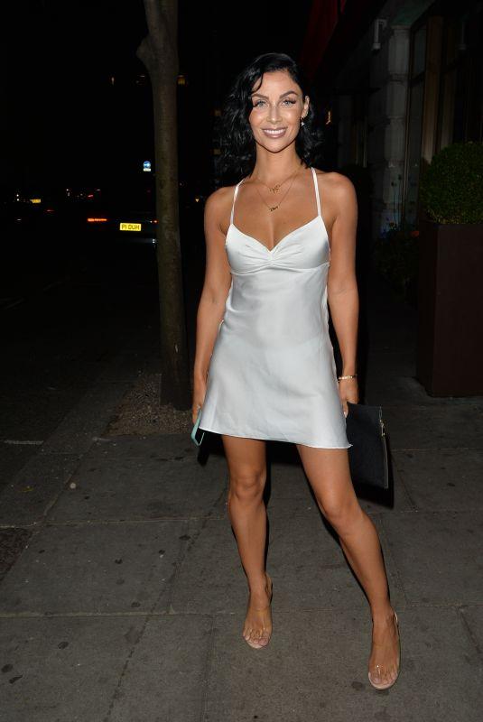 CALLY JANE BEECH Leaves Novikov Restaurant  in London 08/23/2020