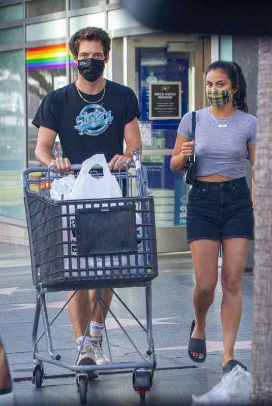 CAMILA MENDES and Grayson Vaughan Sopping at Bed Bath & Beyond in Hollywood 08/14/2020