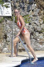 CAROLINE WOZNIACKI in Swimsuit at a Pool in Portofino 08/08/2020