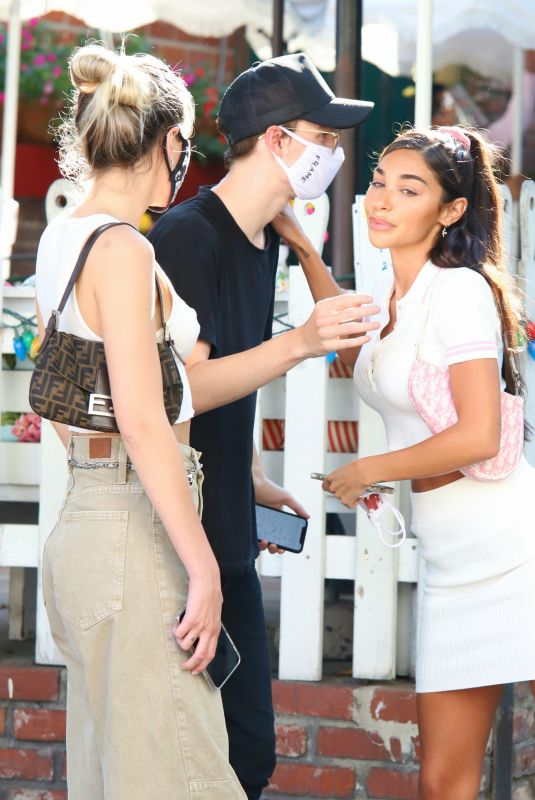 CHANTEL JEFFRIES and ALISSA VIOLET at The Ivy in West Hollywood 08/25/2020