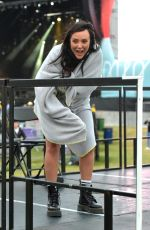 CHARLOTTE CROSBY and Liam Beaumont at Socially Distanced Concert at Outdoor Arena 08/21/2020