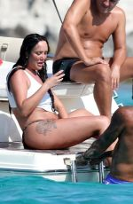 CHARLOTTE CROSBY in Bikini at a Boat in Formentera 08/03/2020