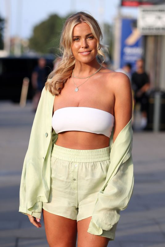 CHLOE MEADOWS on the Set of The Only Way is Essex 08/14/2020