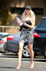 CHRISTINE QUINN Leaves a Dance Class in Los Angeles 08/20/2020