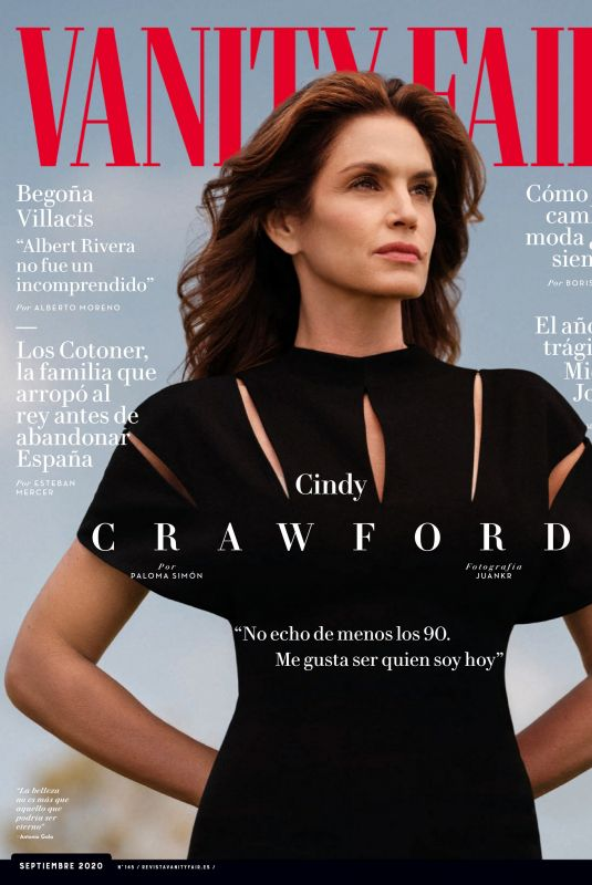 CINDY CRAWFORD in Vanity Fair Magazine, Spain September 2020