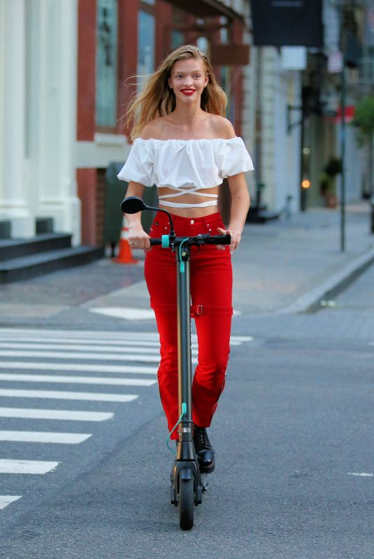 CLARE CRAWFORD on the Set of New Maybelline Commercial in New York 08/05/2020