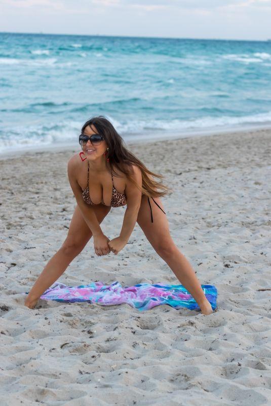 CLAUDIA ROMANI in Bikini at a Beach in Miami 08/11/2020
