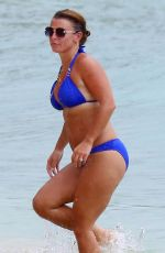 COLEEN ROONEY in a Blue Bikini at a Beach in Barbados 08/08/2020