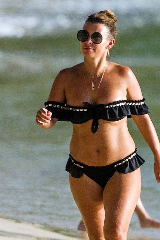 COLEEN ROONEY in Bikini at a Beach in Barbados 08/09/2020