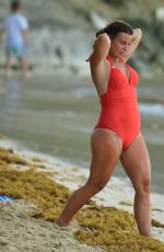 COLEEN ROONEY in Swimsuit at a Beach in Barbados 08/03/2020
