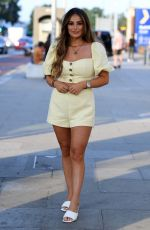 COURTNEY GREEN on the Set of The Only Way is Essex 08/14/2020