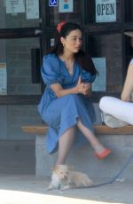 CRYSTAL REED Out for Coffee in Los Angeles 08/25/2020