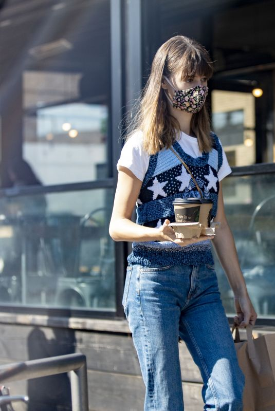 DAISY EDGAR JONES Out for Coffee in London 07/31/2020