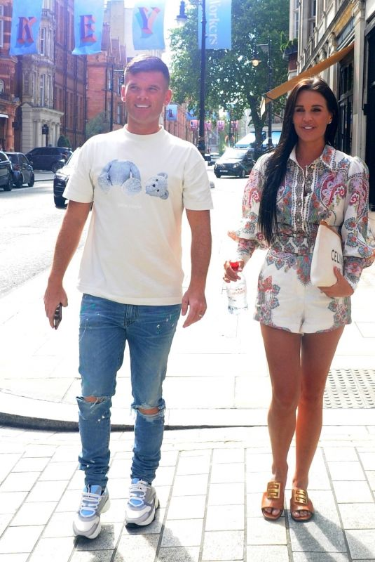 DANIELLE LLOYD and Michael O'Neill Celebrate His Birthday at Sexy Fish in London 08/22/2020