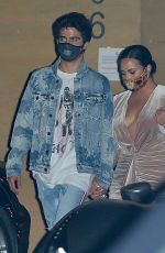 DEMI LOVATO and Max Ehrich at Nobu in Malibu 08/02/2020