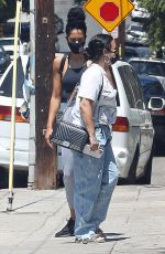 DEMI LOVATO Vearing a Mask Out in Los Angeles 08/26/2020