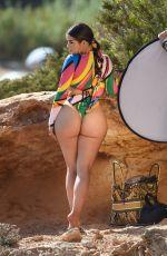 DEMI ROSE MAWBY in Bikini at a Photoshoot on the Beach in Spain 08/09/2020