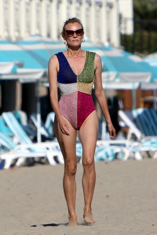 DIANE KRUGER in Swimsuit at a Beach in Los Angeles 08/24/2020