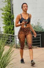 DRAYA MICHELE In Tights Out in Los Angeles 08/13/2020