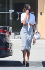 EIZA GONZALEY in Tight Long Skirt Out in Studio City 08/18/2020