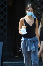 EIZA GONZALEZ Out for Iced Coffee in West Hollywood 08/20/2020