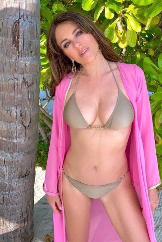 ELIZABETH HURLEY in Bikini – Instagram Photos 08/20/2020