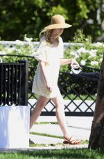 ELLE FANNING Out at a Park in Los Angeles 08/02/2020