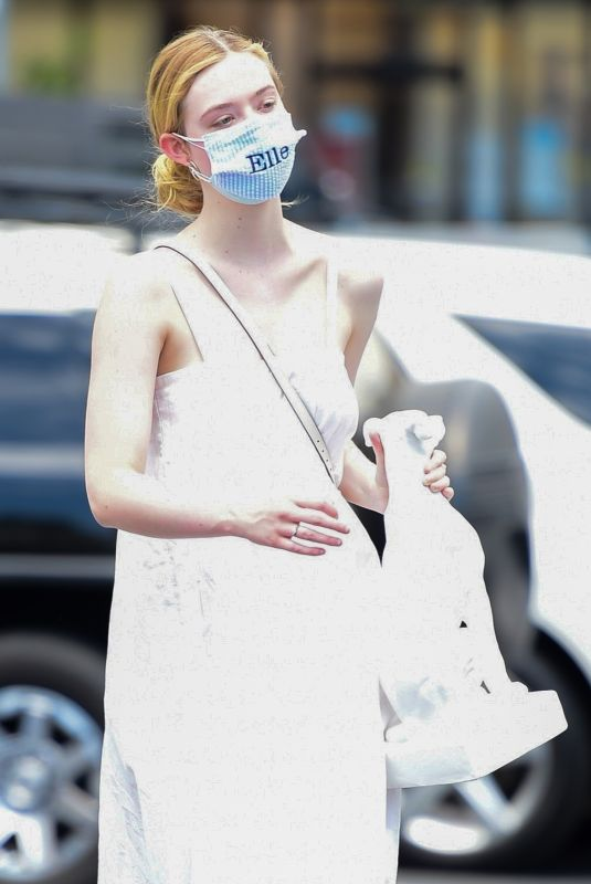ELLE FANNING Out Shopping in Los Angeles 08/17/2020