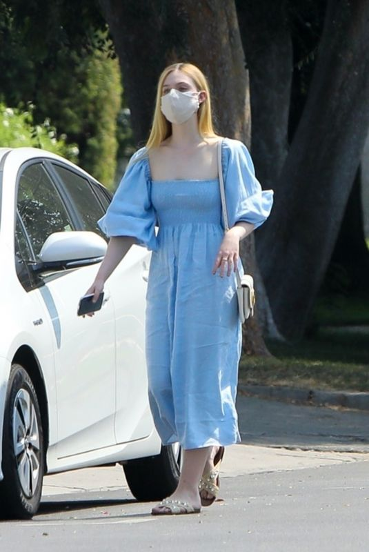 ELLE FANNING Out Shopping in Los Angeles 08/20/2020