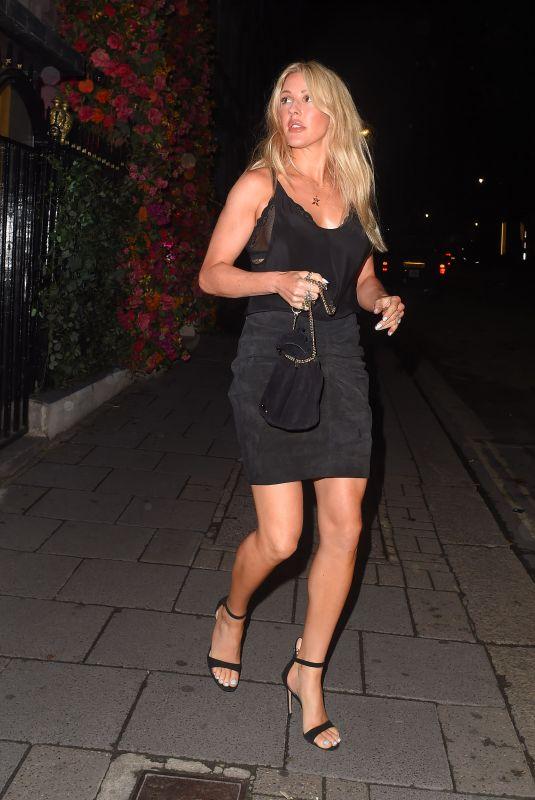 ELLIE GOULDING at Annabel's in London 08/14/2020