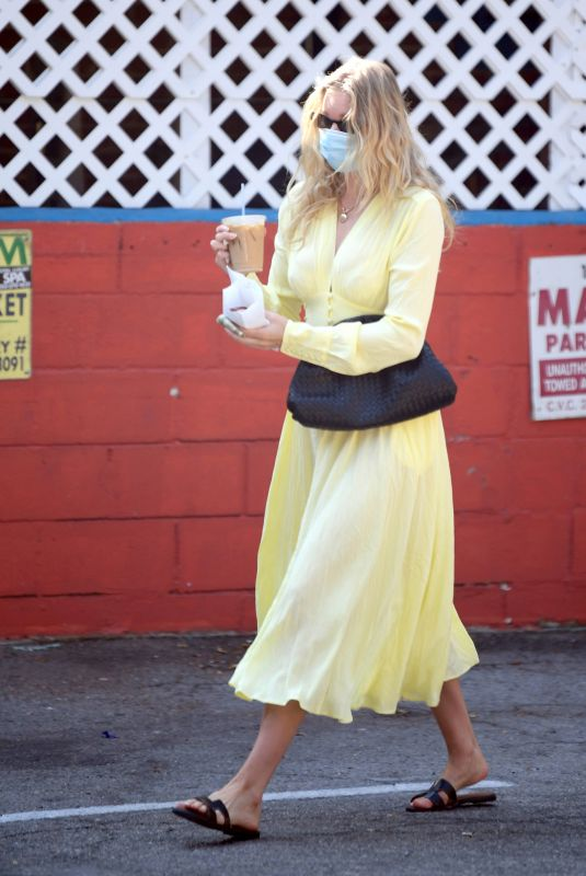 ELSA HOSK Out for Iced Coffee in Los Angeles 08/28/2020