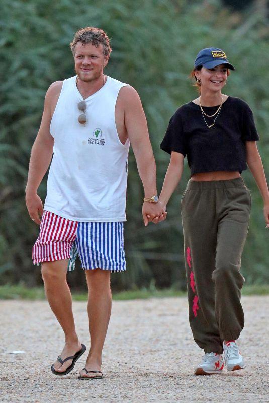 EMILY RATAJKOWSKI and Sebastian Bear McClard Out in The Hamptons 08/13/2020