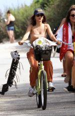 EMILY RATAJKOWSKI at a Bike Ride in The Hamptons 08/11/2020