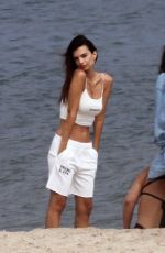 EMILY RATAJKOWSKI at a Photoshoot for Her Swimwear Brand at a Beach in New York 08/11/2020