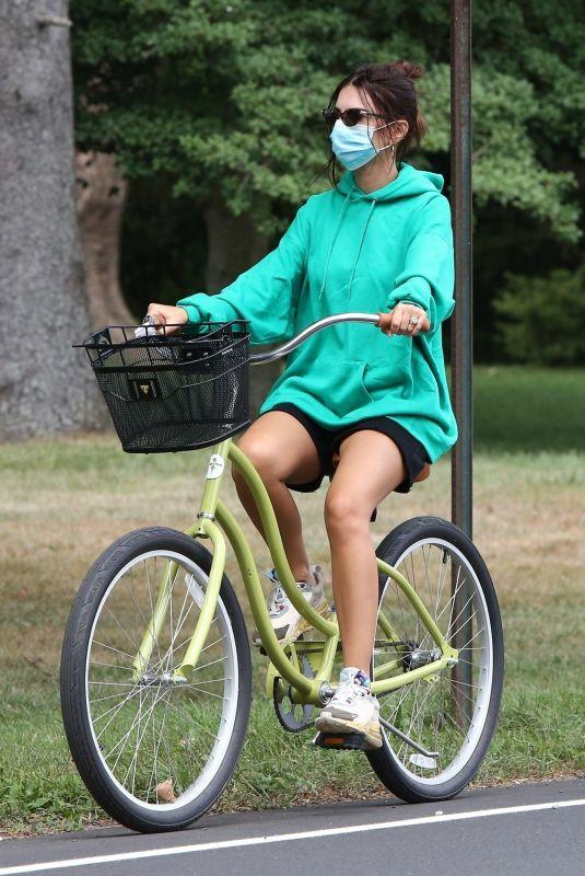 EMILY RATAJKOWSKI Out for Bike Ride in The Hamptons 08/14/2020