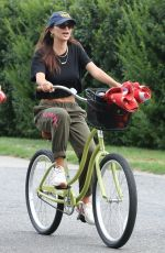 EMILY RATAJKOWSKI Out Riding a Bike at a Beach in The Hamptons 08/13/2020