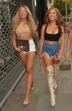 EVE GLAE and JESS GALE and DEMI JONES Night Out in Kensington 08/01/2020